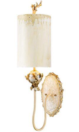 Flambeau Trellis 1 Lamp Wall Light Putty & Silver Leaf