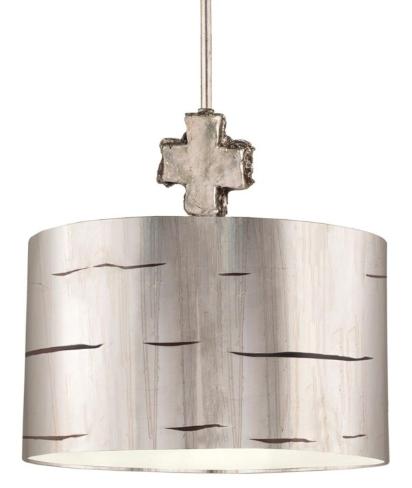 Flambeau Fragment 1 Light Large Ceiling Pendant Aged Silver