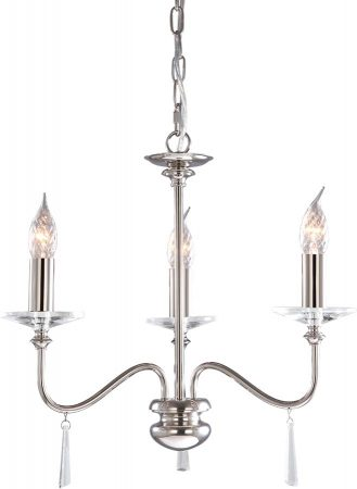 Elstead Finsbury Park Small 3 Light Polished Nickel Chandelier