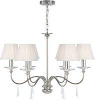 Elstead Finsbury Park 6 Light Polished Nickel Chandelier