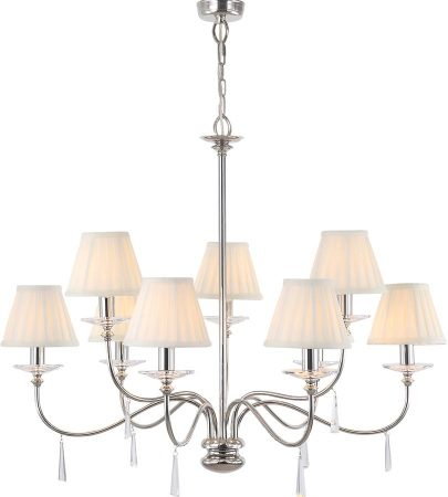 Elstead Finsbury Park Polished Nickel 9 Light Large Chandelier