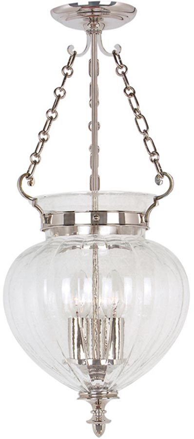 Finsbury Park Polished Nickel Medium 3 Light Hanging Lantern