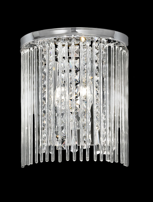 Franklite FL2310/2 Charisma 2 lamp wall light in polished chrome