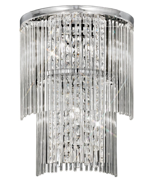 Franklite FL2309/3 Charisma 3 lamp wall light in polished chrome