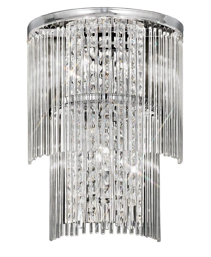 Franklite FL2309/3 Charisma 3 lamp wall light in polished chrome
