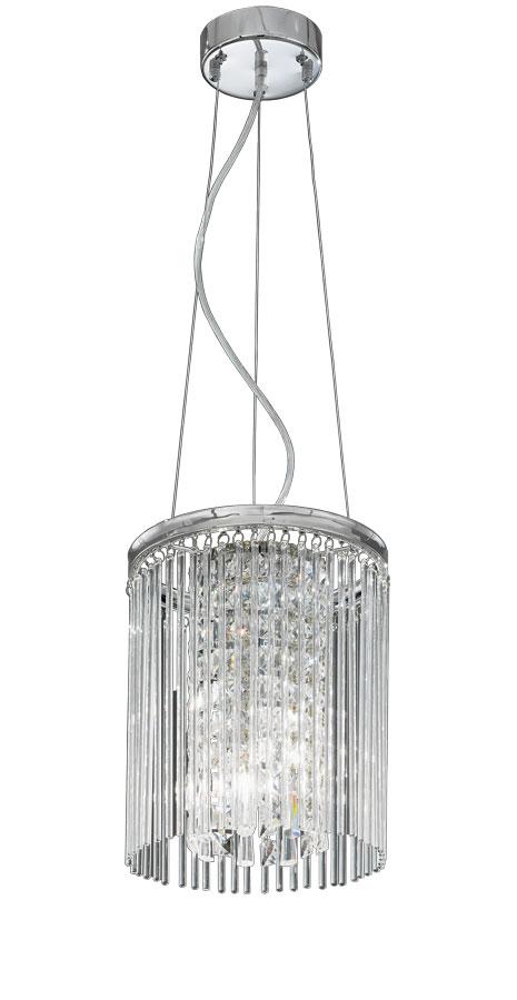 Franklite FL2310/3 Charisma 3 light ceiling pendant in polished chrome