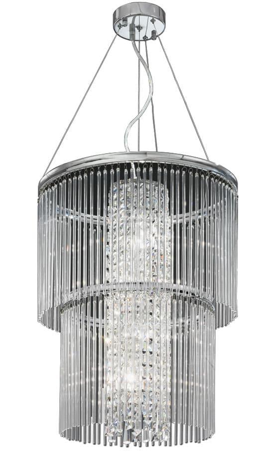 Franklite FL2310/4 Charisma 4 light ceiling pendant in polished chrome