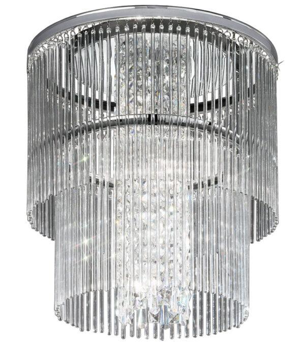 Franklite CF5725 Charisma 4 light flush mount ceiling light polished chrome