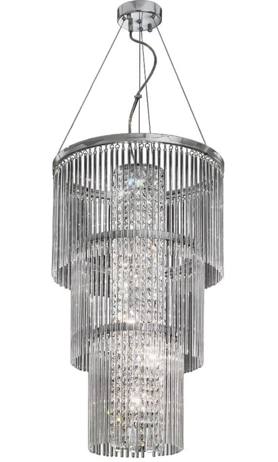 Franklite FL2310/6 Charisma 6 light ceiling pendant in polished chrome