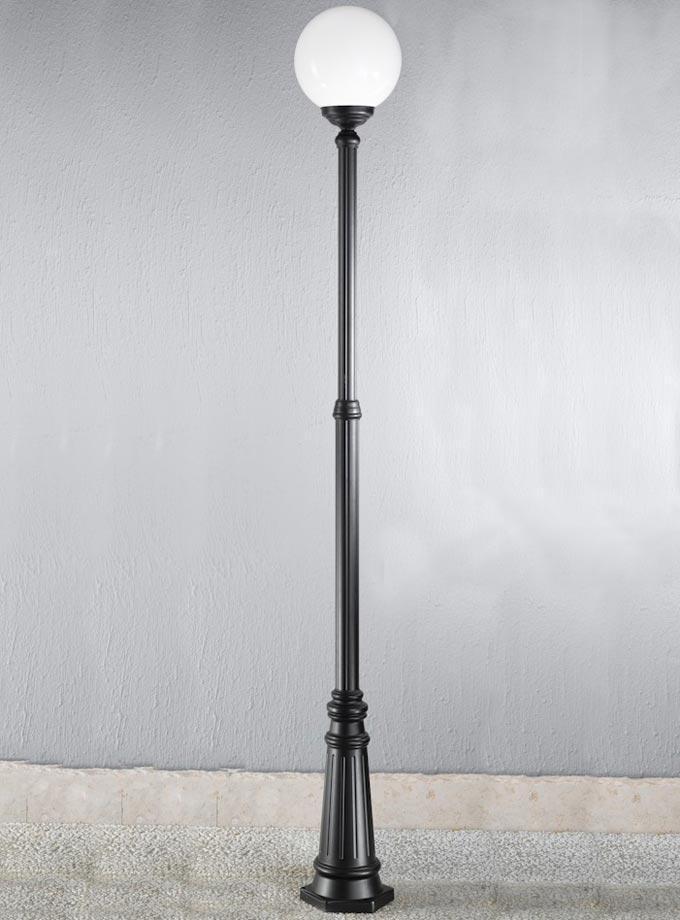 Victorian Style 1 Light Outdoor Lamp, Globe Outdoor Light Post