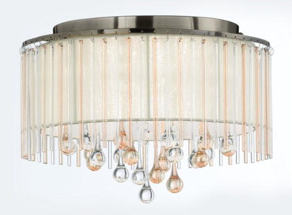 Franklite FL2345/6 Ambience 6 light flush mount ceiling light bronze switched off