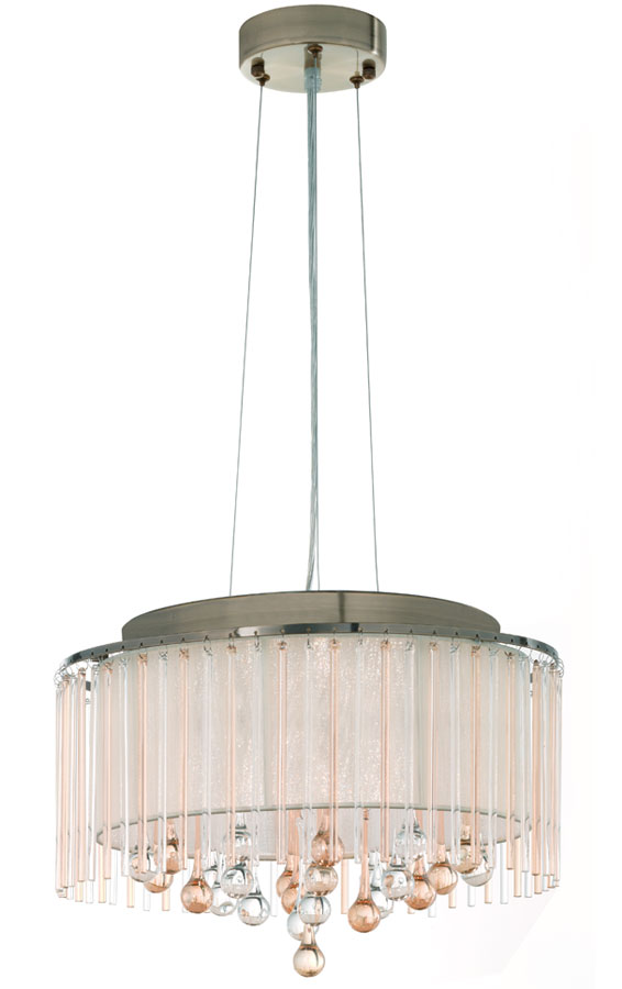 Franklite FL2346/6 Ambience 6 light ceiling pendant in bronze switched off