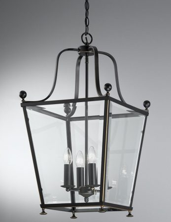 Franklite Atrio Large 4 Light Antique Bronze Hanging Lantern