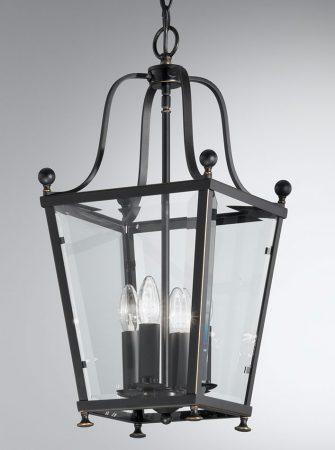 Franklite Atrio Antique Bronze 4 Light Hanging Hall Lantern
