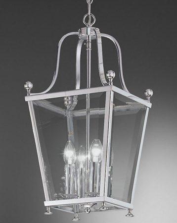Franklite Atrio Polished Chrome 4 Light Hanging Hall Lantern
