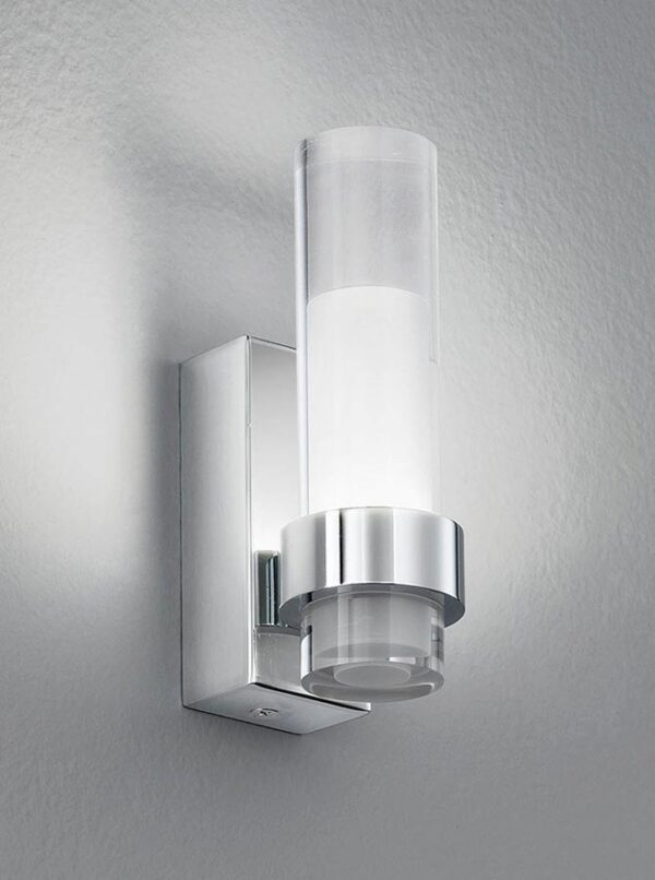 Stylish Modern 1 Light LED Bathroom Wall Light Polished Chrome IP44