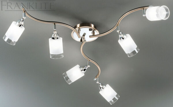 Franklite Campani Bronze 6 Light Large Ceiling Spot Light Plate