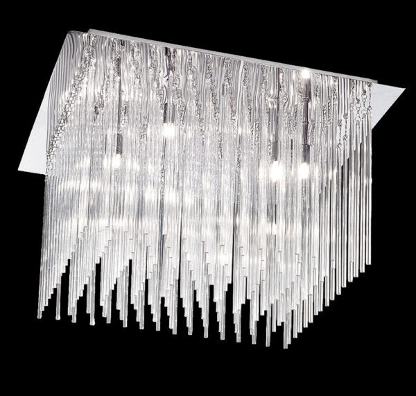 Franklite FL2093/10 Carillon 10 light flush mount ceiling light in polished chrome
