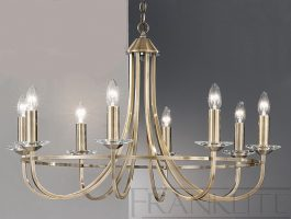 Franklite Carousel Soft Bronze Finish 8 Light Chandelier
