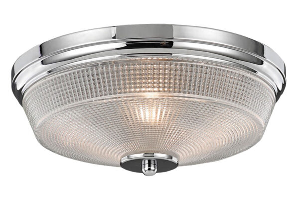 Franklite Concept 2 Lamp Flush Bathroom Ceiling Light Chrome