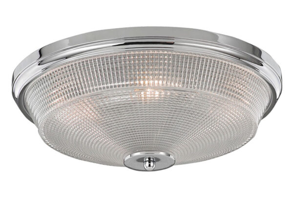 Franklite CF5772 Concept 3 lamp flush mount ceiling light in polished chrome