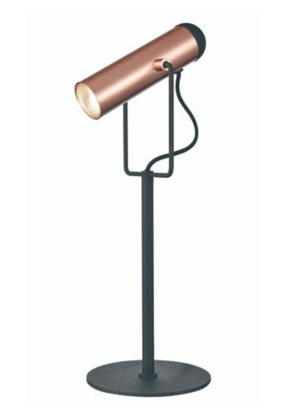 Contemporary 1 Light Adjustable Desk Reading Lamp Matt Black / Copper