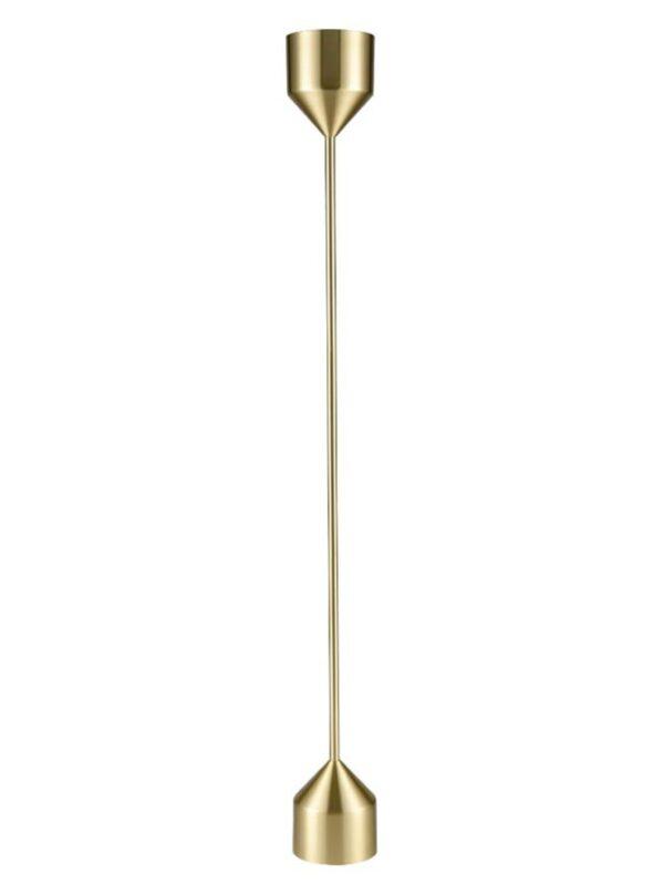 Contemporary Minimalist Style 1 Light Floor Lamp Uplighter Satin Brass