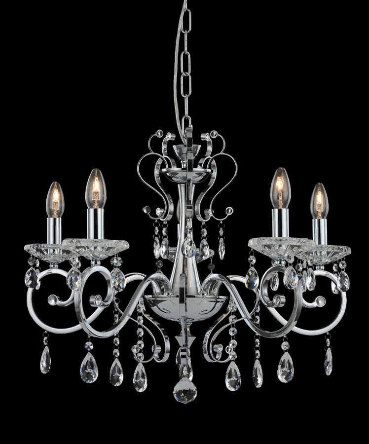 Classic Collection 5 light Polished Chrome Chandelier