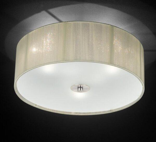 Franklite Desire 3 Light Cream Strung Flush Mount Ceiling Light