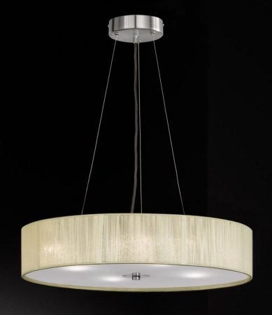 Franklite Desire 4 Light Cream Strung Pendant Ceiling Light