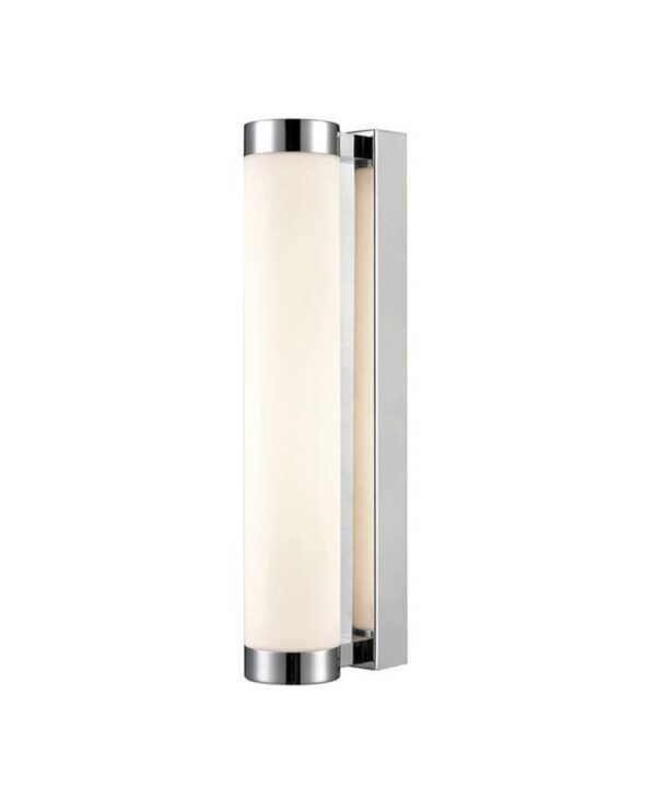 Bright 345mm LED Bathroom Wall Tube Light Chrome Opal Glass IP44