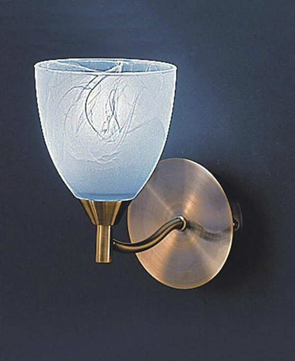 Franklite FL2105/1 Emmy single light wall light in bronze finish with alabaster effect glass shade