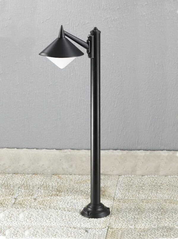 Contemporary 1 Lamp Cast Aluminium Outdoor Post Light Matt Black IP43