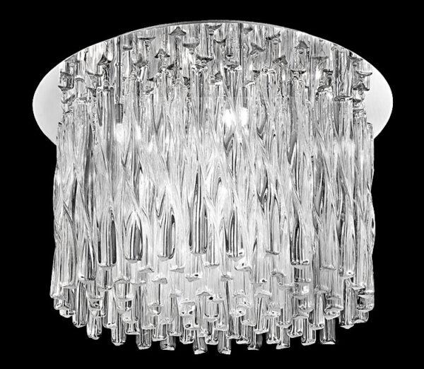 Franklite FL2175/12 Glacial 12 light flush mount ceiling light polished chrome