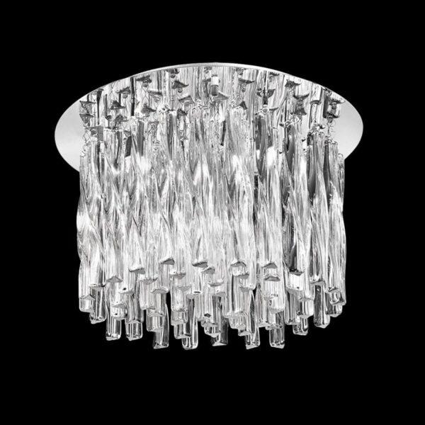 Franklite FL2175/4 Glacial 4 light flush mount ceiling light polished chrome