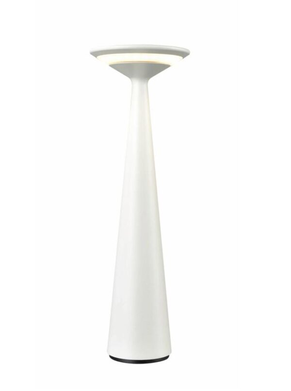 Modern USB Rechargeable Outdoor Dimmer LED Table Lamp White IP54