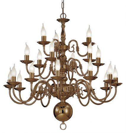 Franklite Halle 21 Light 3-Tier Large Chandelier Bronzed Solid Brass