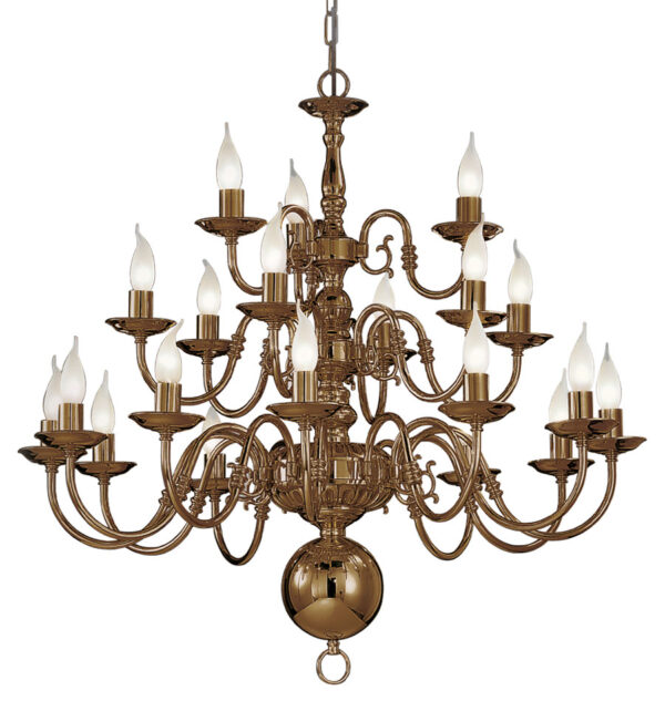 Franklite PE79321 Halle 21 light 3-tier large chandelier in bronzed solid brass