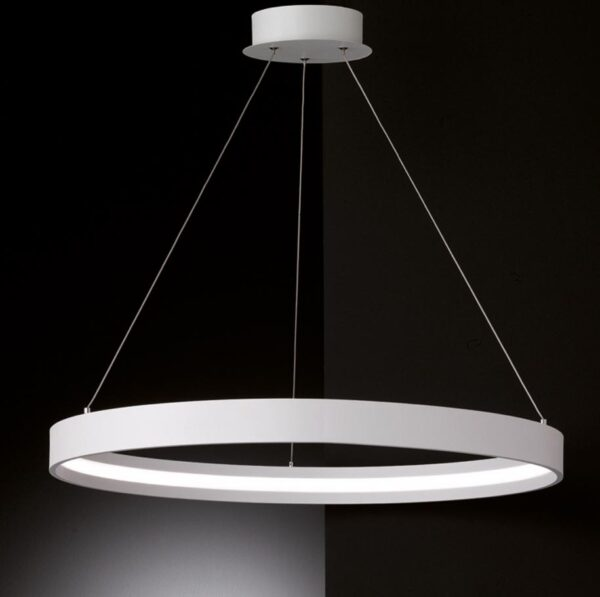 Franklite Hollo 42w Dimmable LED Ceiling Pendant Ivory Finish