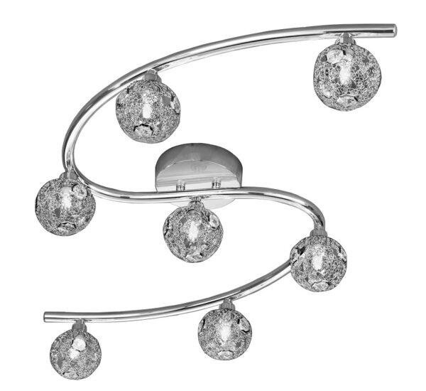 Franklite 2305/7 Horologica 7 light flush mount ceiling light in polished chrome