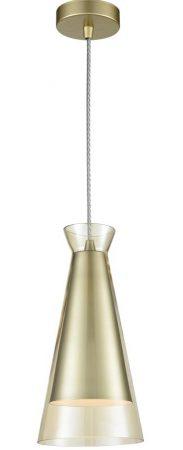 Franklite Konos Single Champagne Glass Pendant Ceiling Light Gold