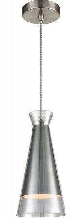 Franklite Konos Single Smoked Glass Pendant Ceiling Light Satin Nickel