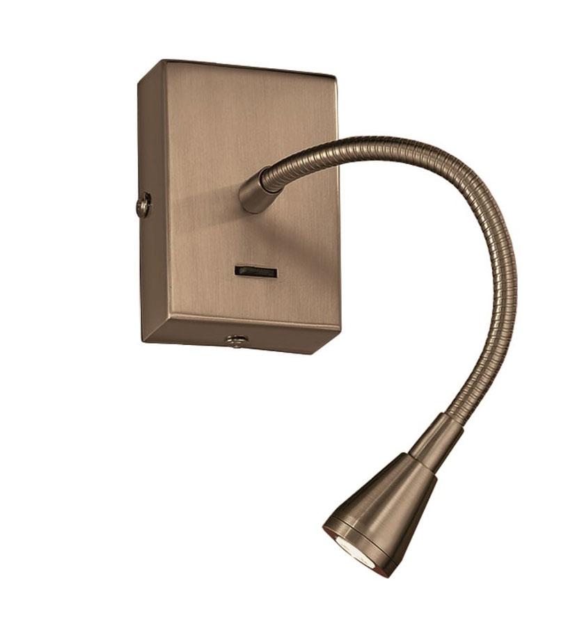 Bronze Finish Flexible Switched Led Wall Mounted Reading Light