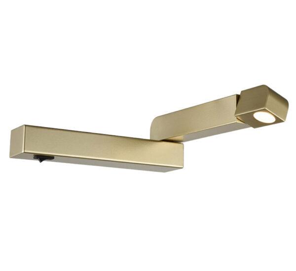 Adjustable Right Hand 3w LED Bedside Wall Reading Light Matt Gold