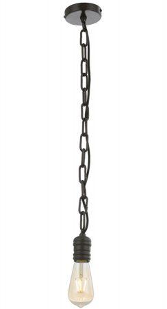 Franklite Linky Single Pendant Ceiling Light Antique Ironwork