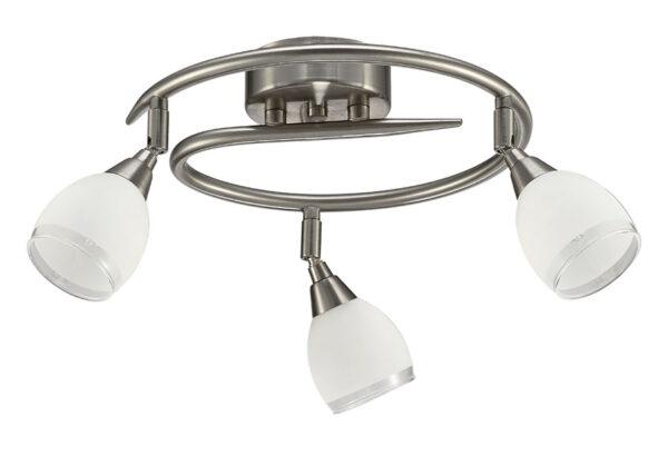 Franklite Lutina 3 Light Ceiling Spot Light Bar Satin Nickel