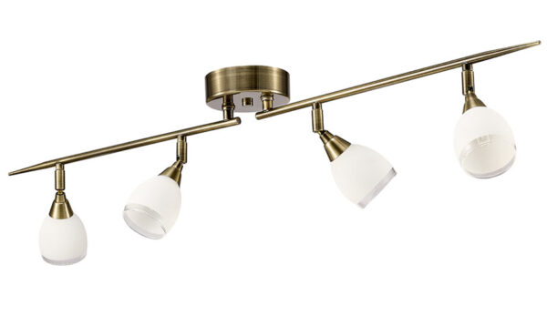 Franklite SPOT8984 Lutina 4 light ceiling spot light bar in bronze