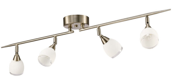 Franklite SPOT8974 Lutina 4 light ceiling spot light bar in satin nickel