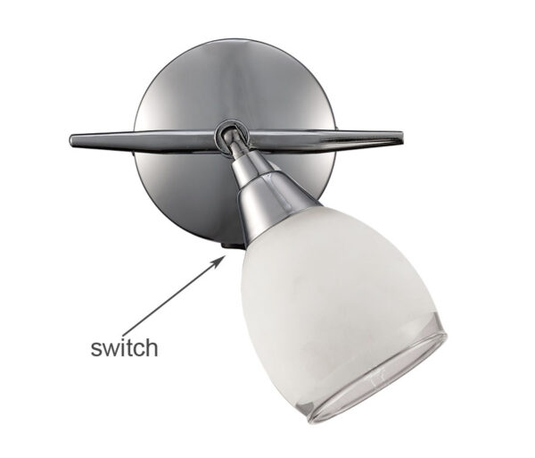 Franklite Lutina Single Switched Wall Spot Light Chrome