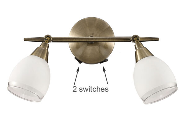Franklite Lutina 2 Light Switched Wall Spot Light Bronze finish